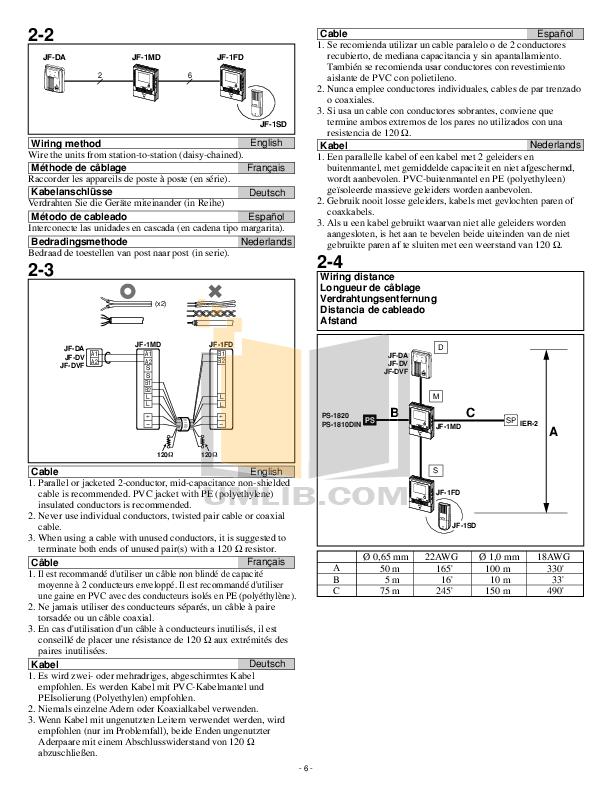 PDF manual for Aiphone Telephone GF-1MD