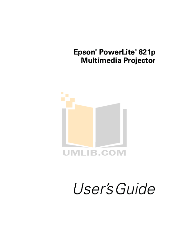 Download free pdf for Epson EMP-821 Projector manual