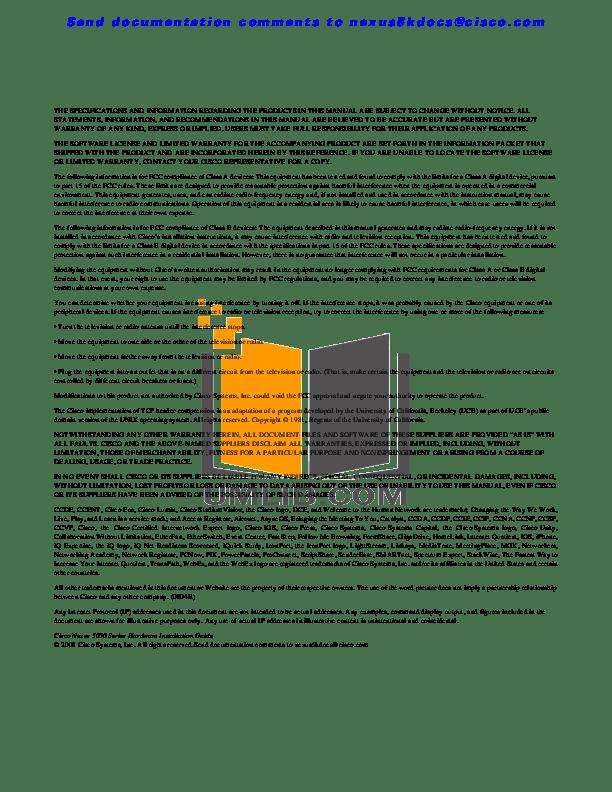 PDF manual for Cisco Switch Nexus 5010
