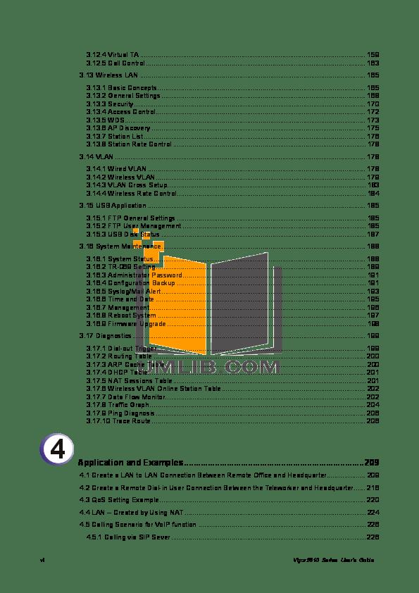 PDF manual for Draytek Wireless Router Vigor 2910VG