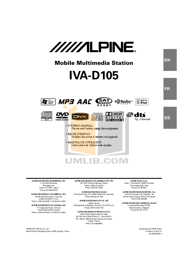 Alpine Iva D105 Wiring Diagram : 30 Wiring Diagram Images
