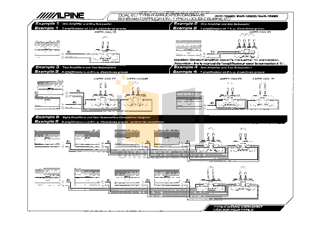 PDF manual for Alpine Subwoofer SWX-1242D