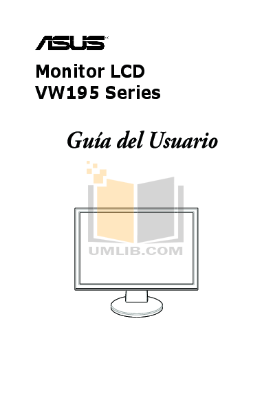 Download free pdf for Asus VW195T Monitor manual