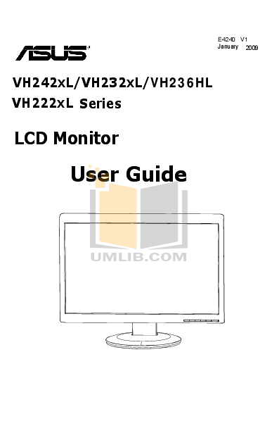Download free pdf for Asus VH236HL Monitor manual