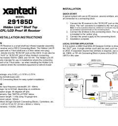 pdf for xantech other cb12 connecting blocks manual [ 1651 x 1275 Pixel ]