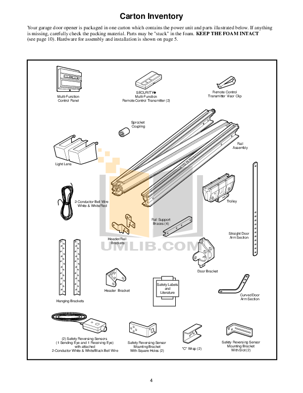 PDF manual for Chamberlain Other 9902C Garage Door Openers