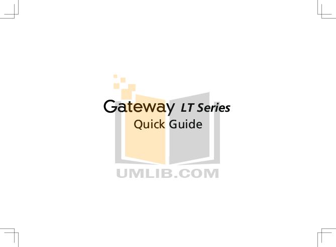 Download free pdf for Gateway LT2016u Laptop manual