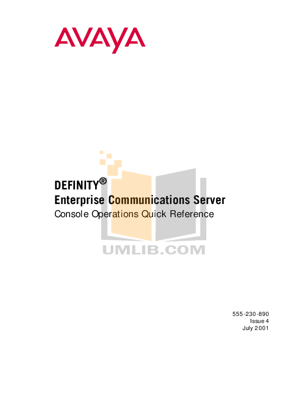 Download free pdf for Avaya Definity 6408 Telephone manual