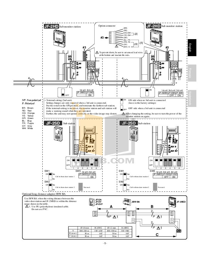 PDF manual for Aiphone Other LE-B4 Intercoms