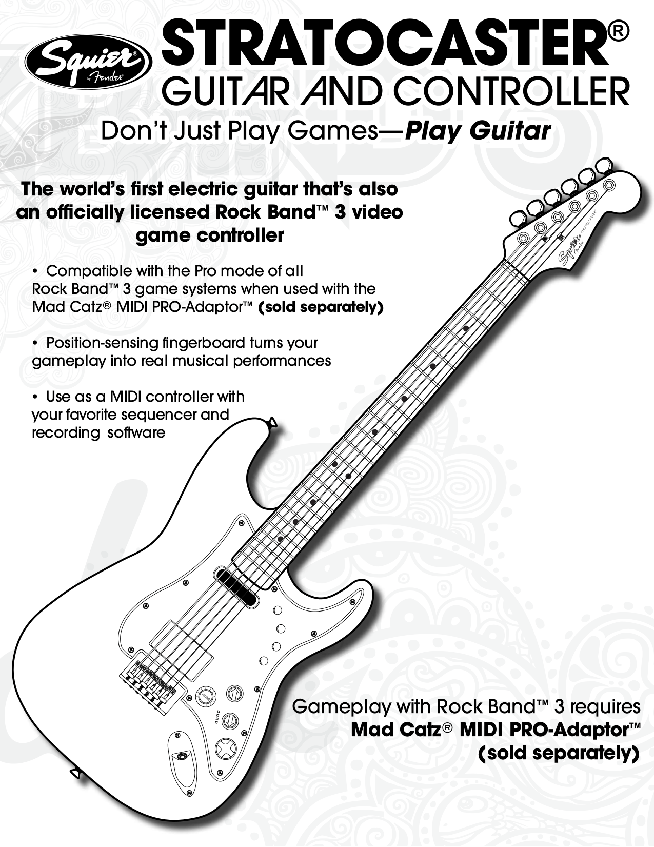 Download free pdf for Squier Stratocaster Guitar manual