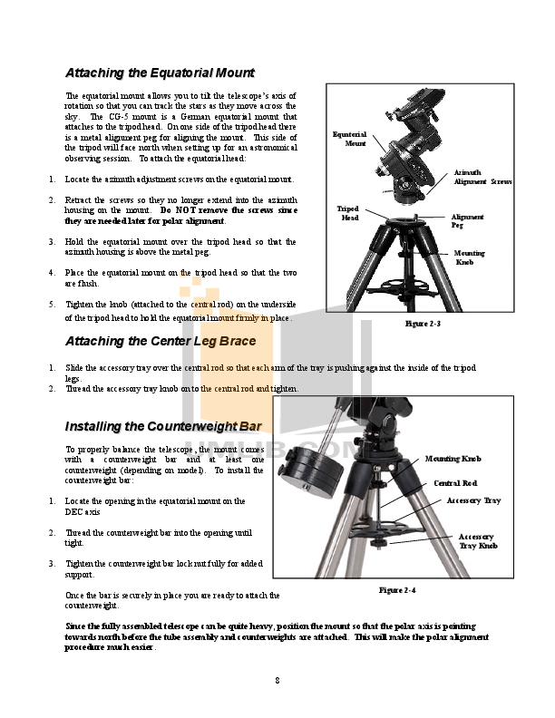 PDF manual for Celestron Telescope C5