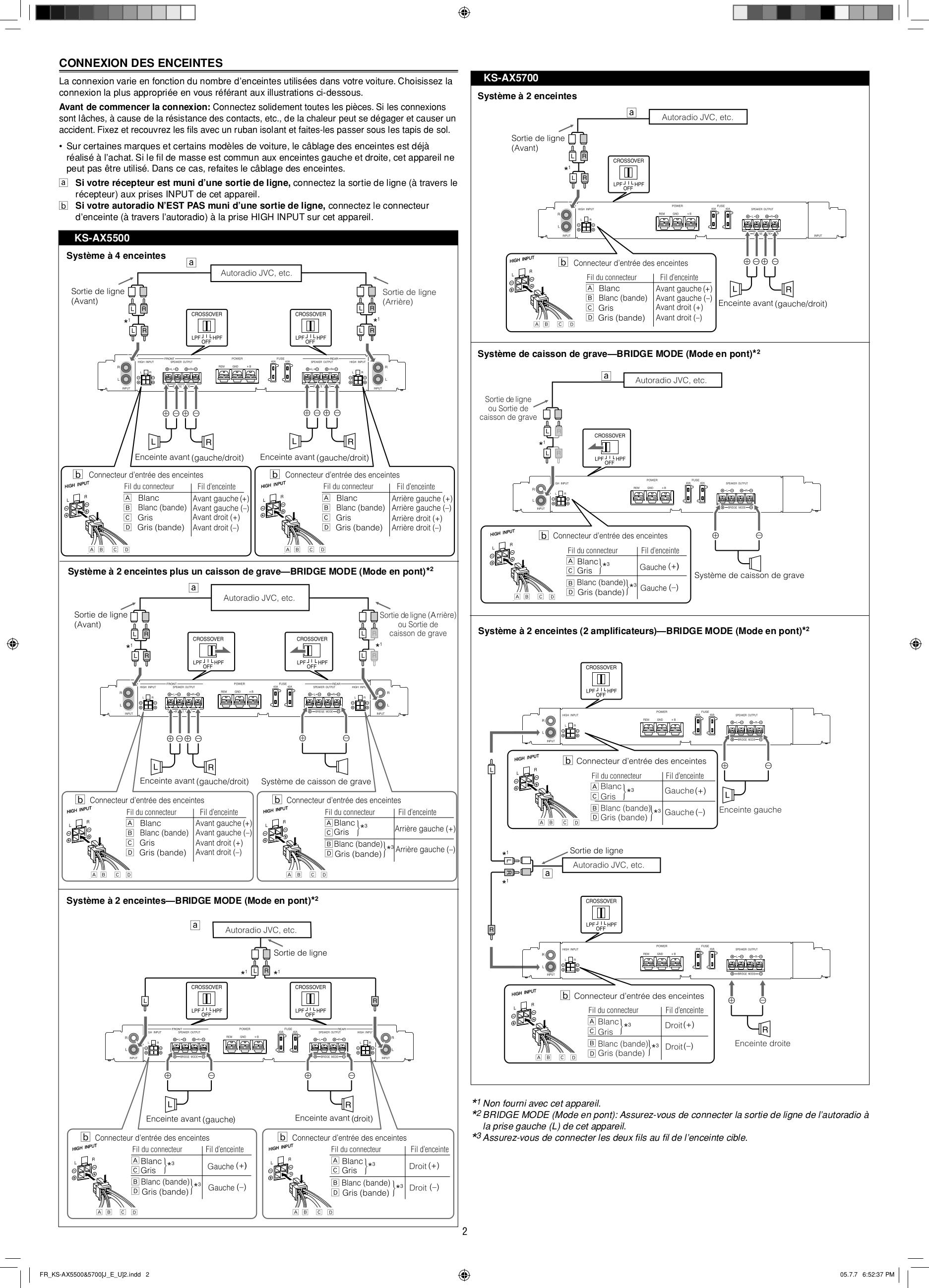 PDF manual for JVC Car Amplifier KS-AX5500