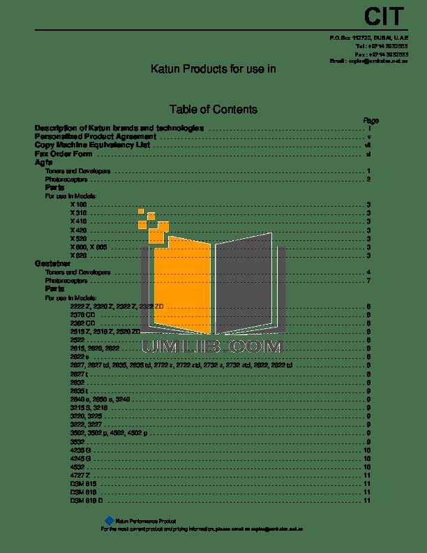 Download free pdf for Gestetner DSm645 Copier manual