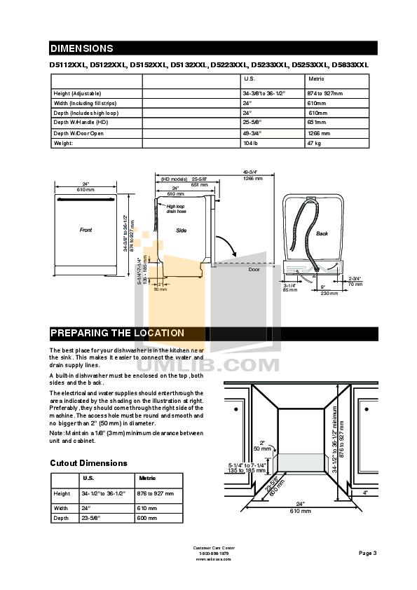 PDF manual for Asko Dishwasher D3530
