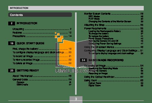 PDF manual for Casio Digital Camera Exilim EX-Z850