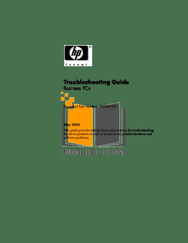 Download free pdf for HP Compaq dc5100 MT Desktop manual