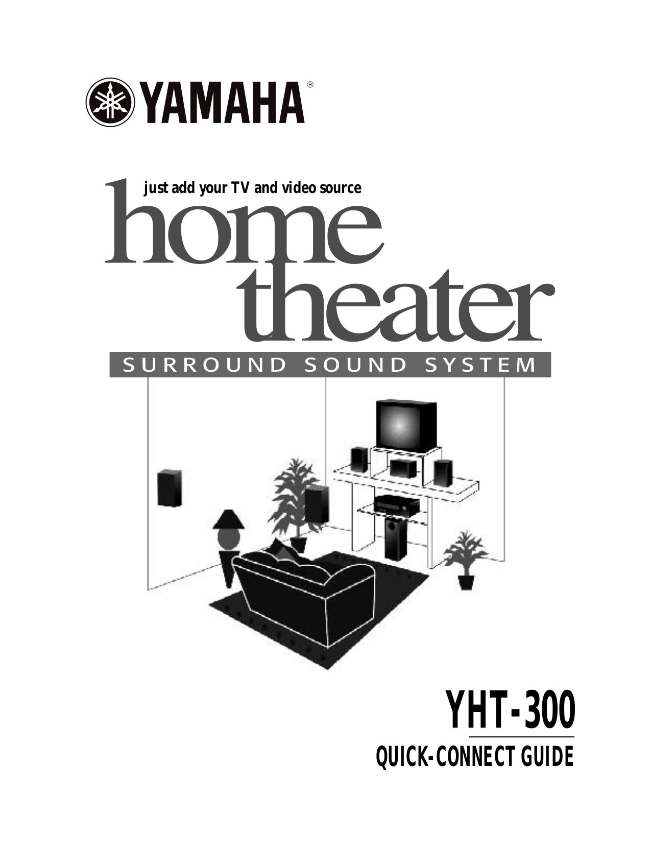 Download free pdf for Yamaha YHT-30 Home Theater manual