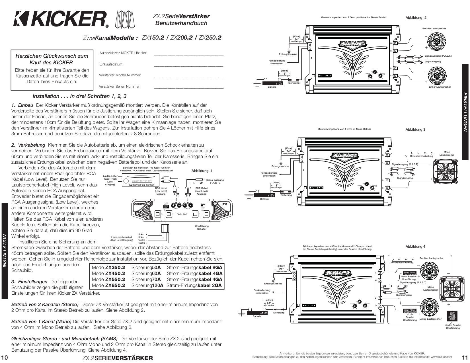 Download Free For Kicker Zx150 2 Car Amplifier Manual