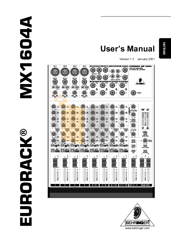 Download free pdf for Behringer Ultra-Curve Pro DSP8024