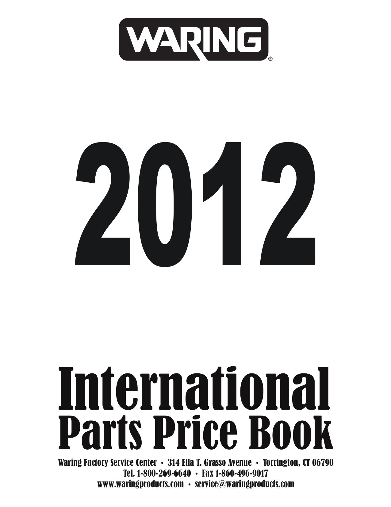 Download free pdf for Waring HPB300 Blender manual