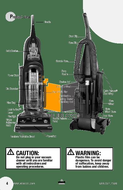 PDF manual for Bissell Vacuum 82H1