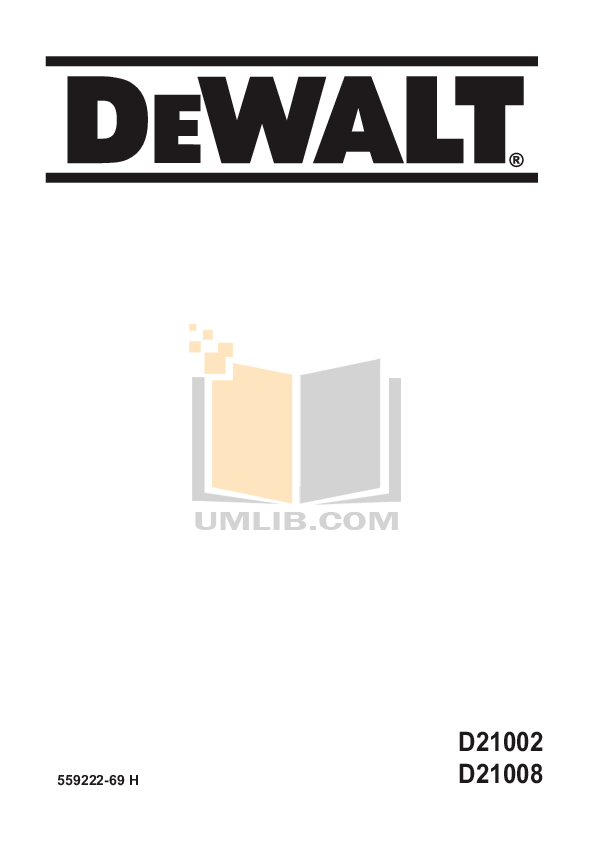 Download free pdf for Dewalt D21008 Drills Other manual