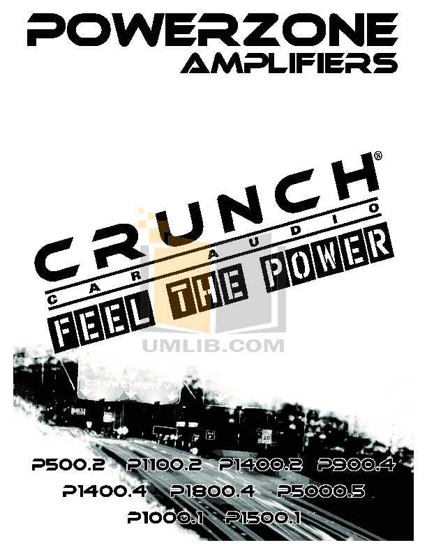 Download free pdf for Crunch PowerZone P5000.5 Car