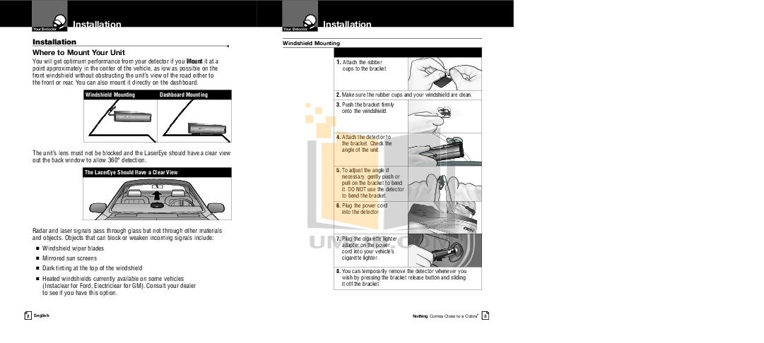 PDF manual for Cobra Radar Detector XRS9745