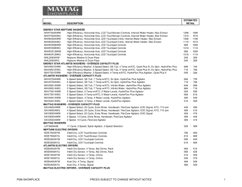 small resolution of appliance manuals and literature maytag