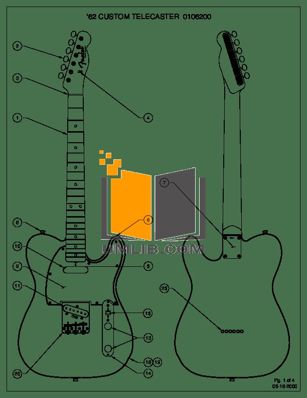 Download free pdf for Fender American Vintage 62 Custom