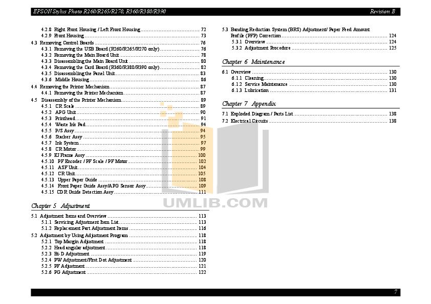 PDF manual for Epson Printer Stylus Photo R265