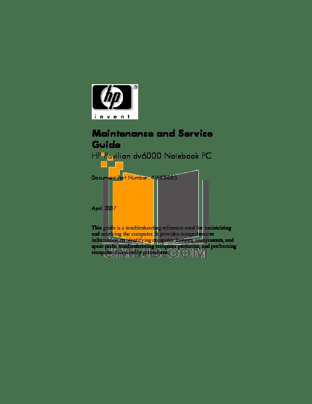 Download free pdf for HP Pavilion p6210y Desktop manual