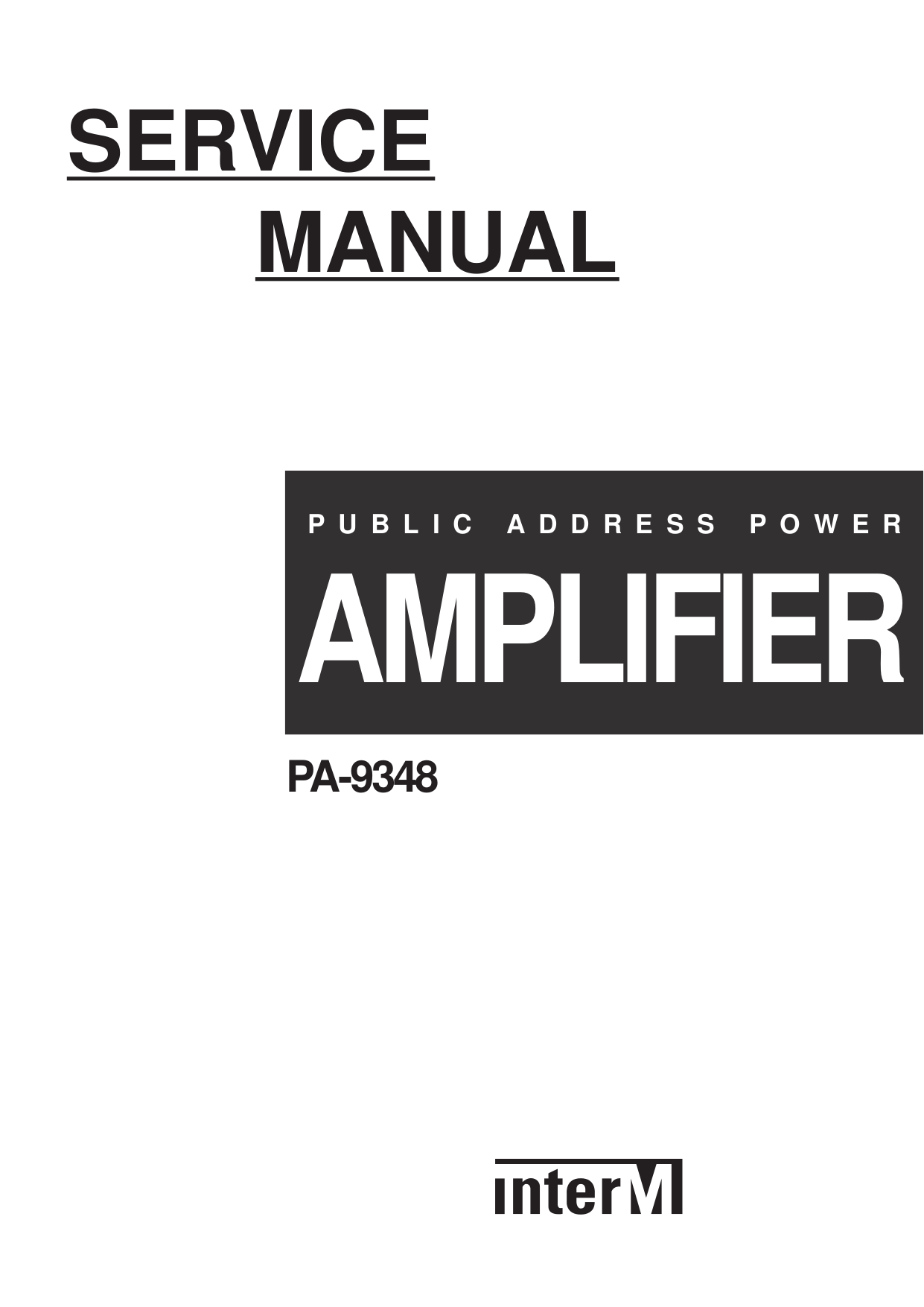 Download free pdf for Inter-m PA-9348 Amp manual