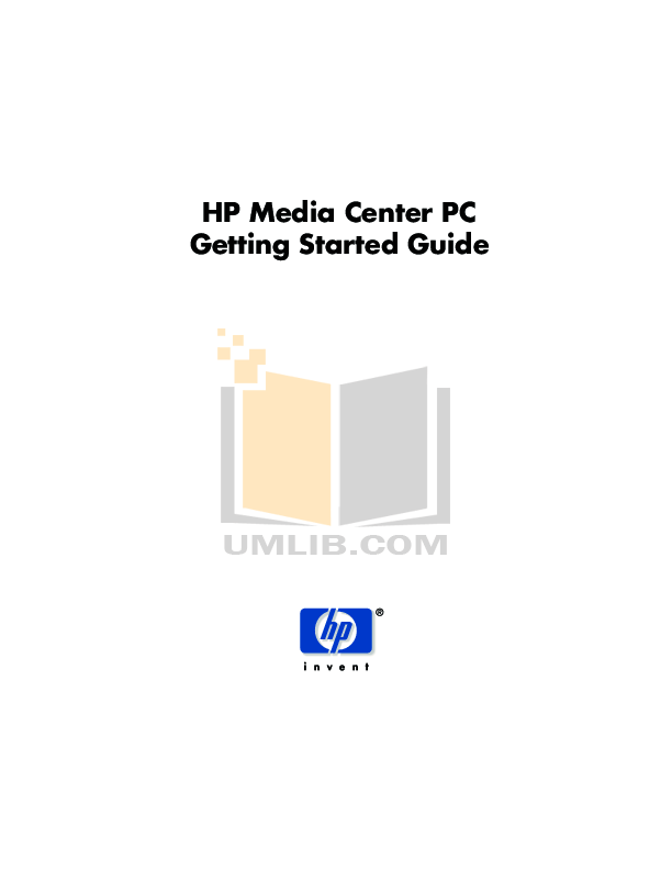Download free pdf for HP Media Center,Pavilion Media