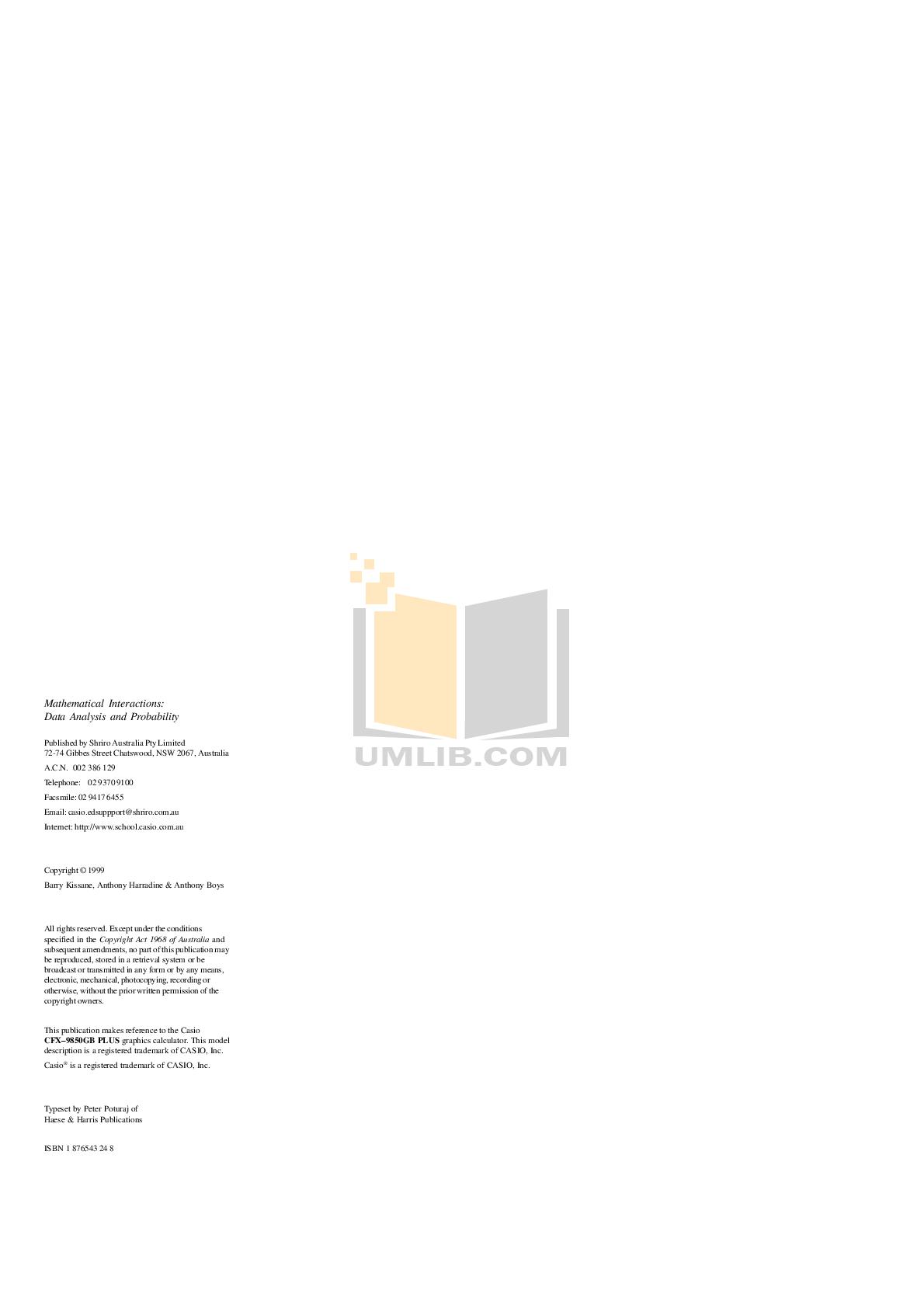 PDF manual for Casio Calculator HR-8TM