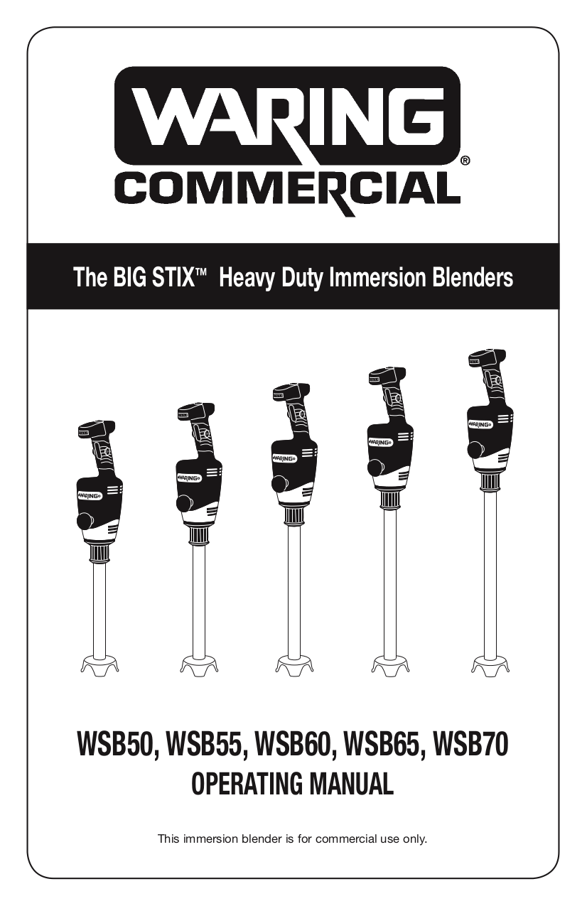 Download free pdf for Waring WSB50 Blender manual