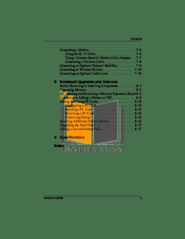 PDF manual for HP Laptop Evo N410c