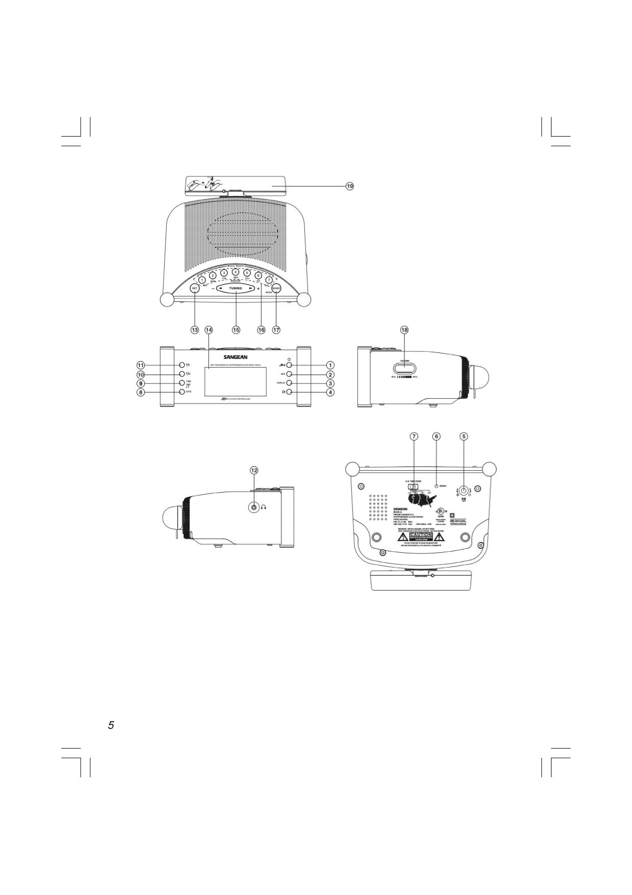 PDF manual for Sangean Clock Radio RCR-2