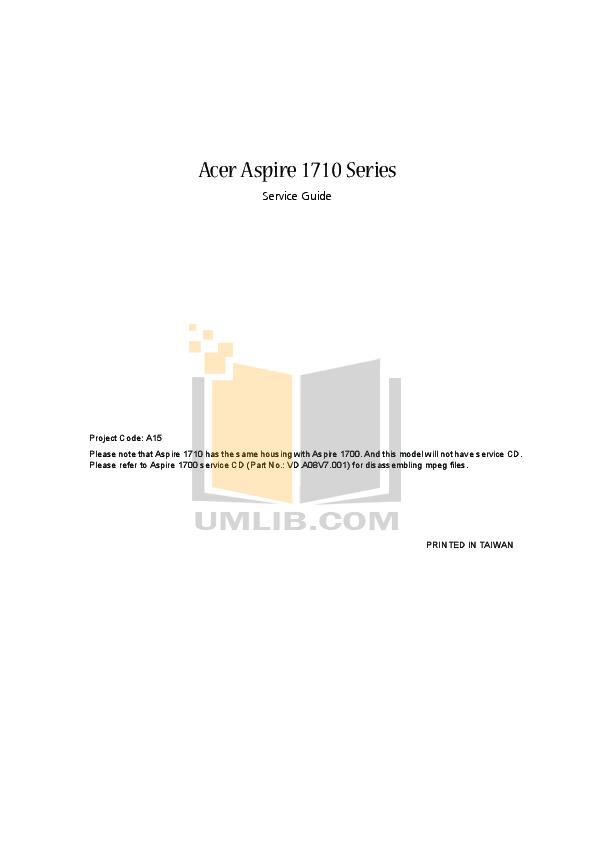 Download free pdf for Acer Aspire M5800 Desktop manual