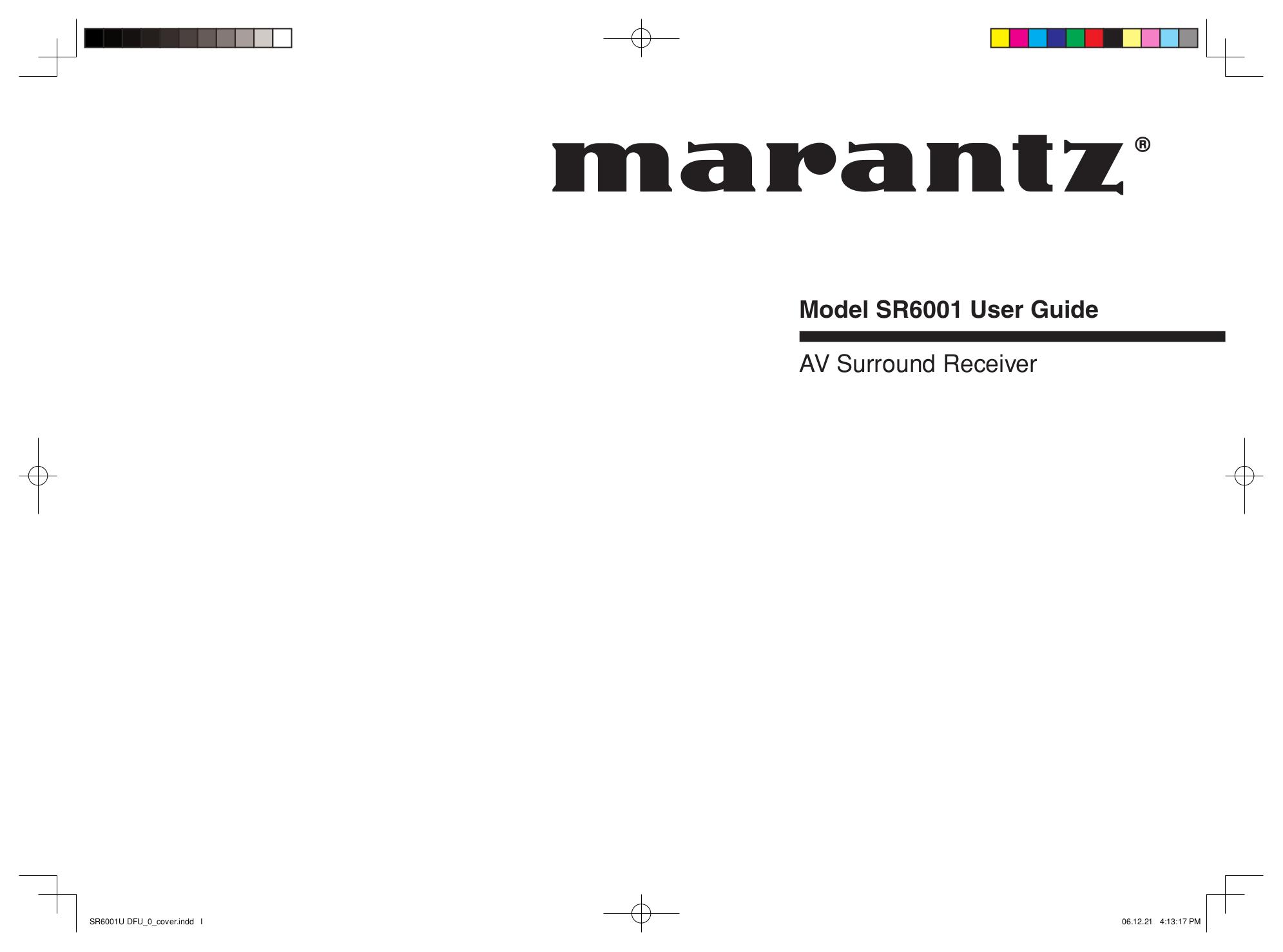 Download free pdf for Marantz SR5001 Receiver manual