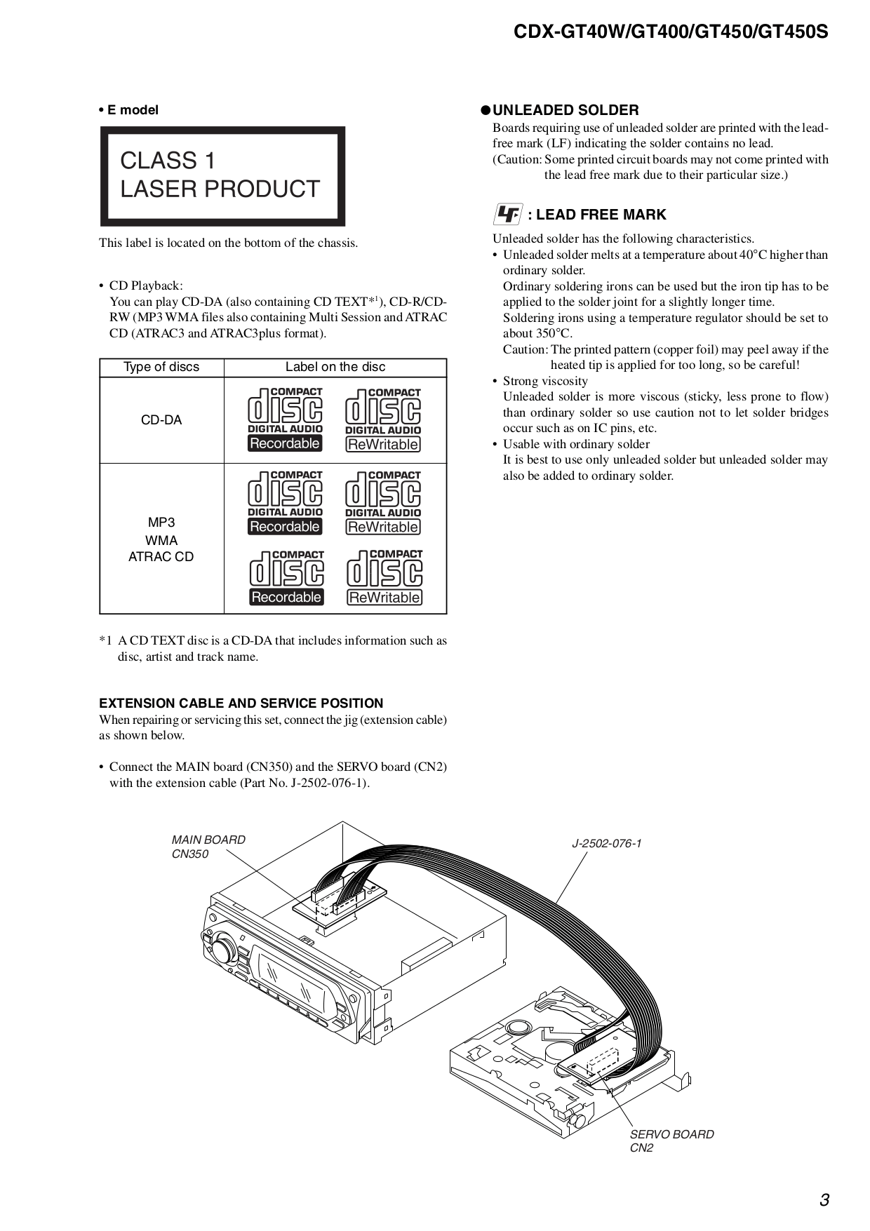 PDF manual for Sony Car Receiver CDX-GT450
