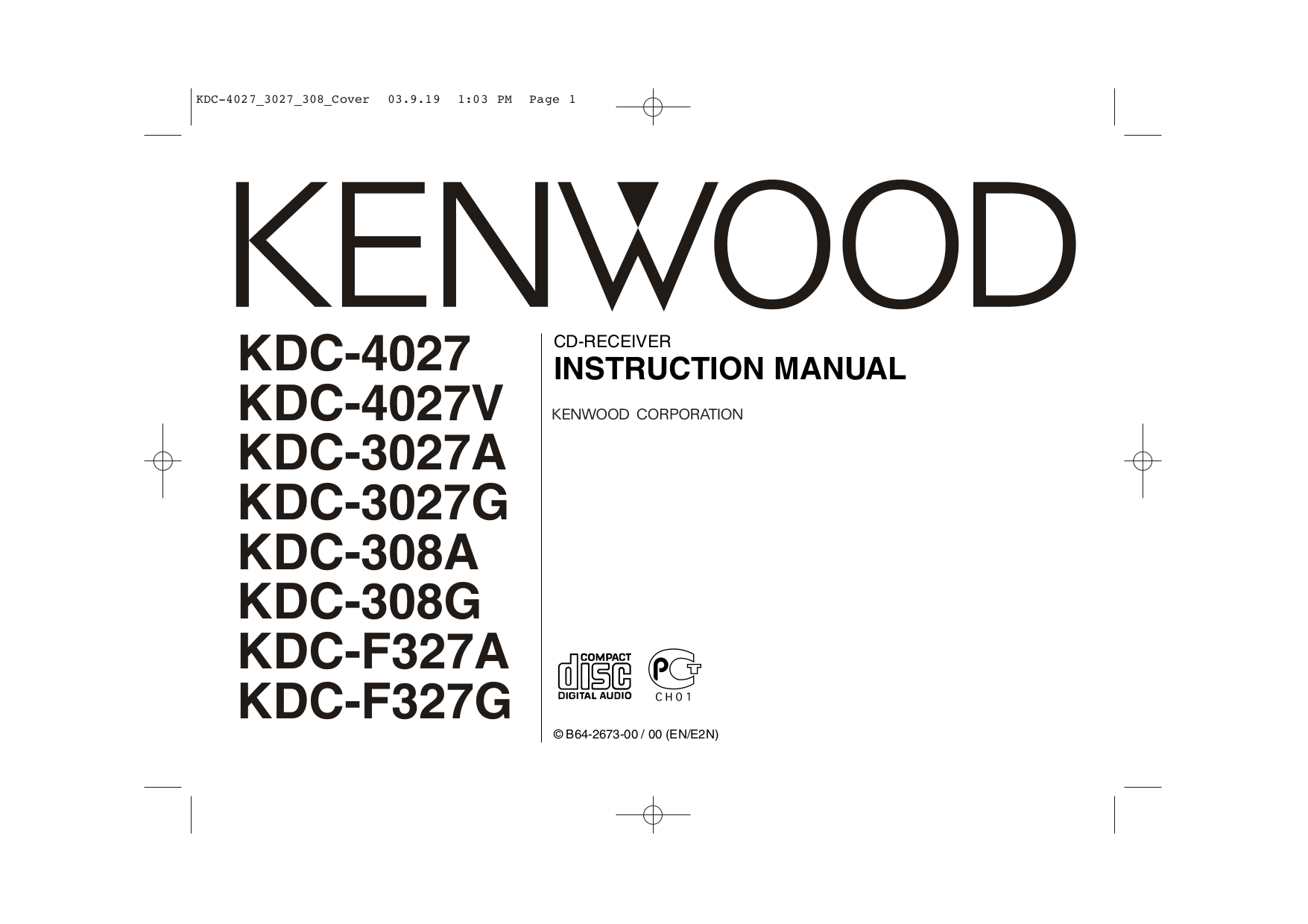hight resolution of pdf for kenwood car receiver kdc 85r manual