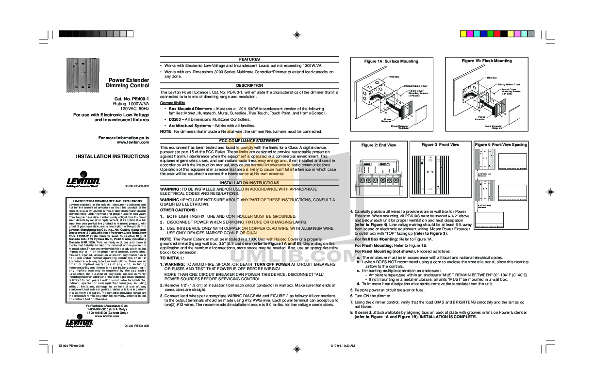PDF manual for Crestron Other LEPB-5 Power Extender