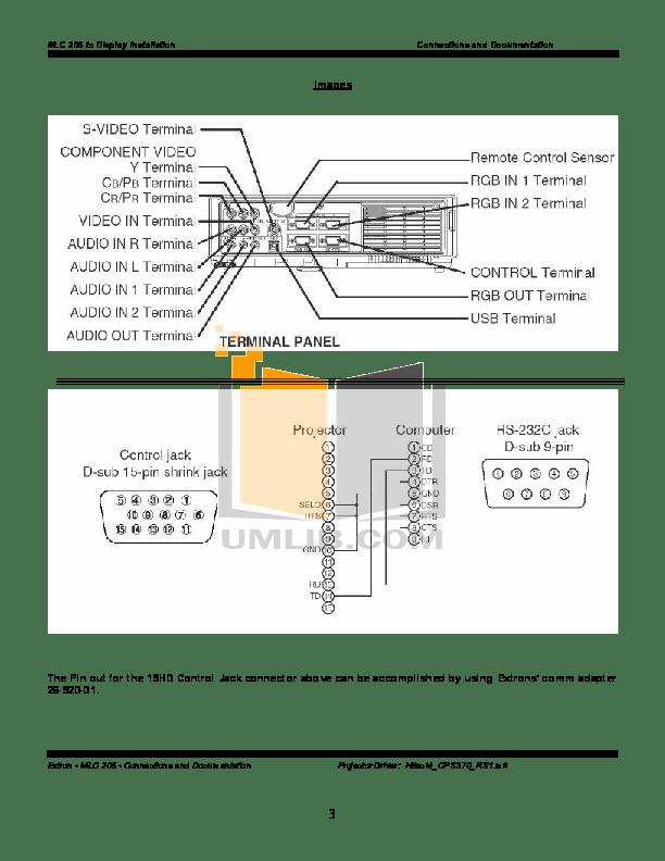 PDF manual for Hitachi Projector CP-S370