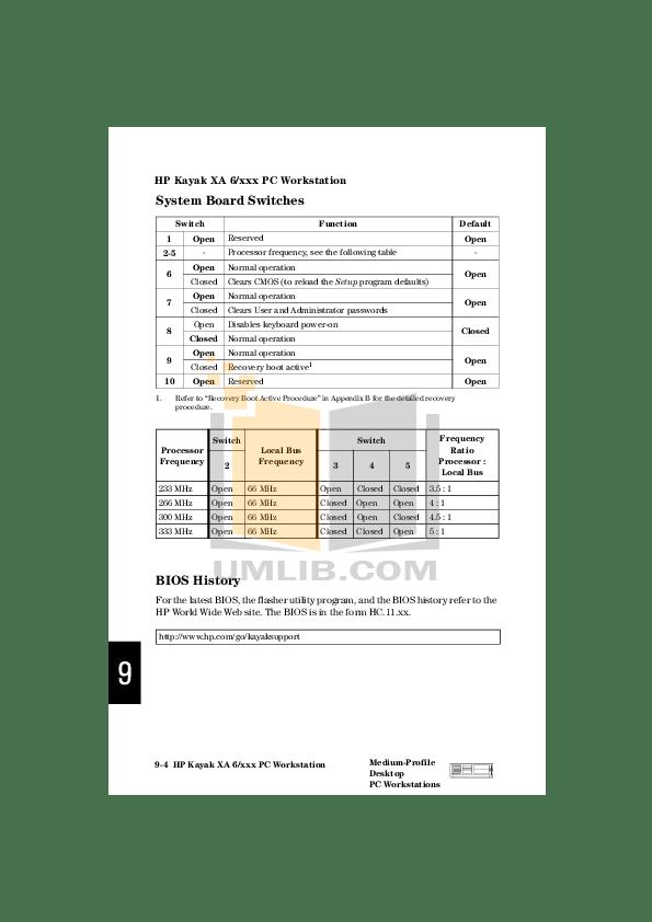 PDF manual for HP Desktop Kayak XA