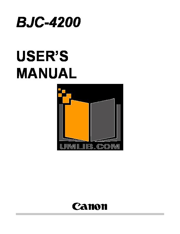 Download free pdf for Canon BJC-55 Printer manual