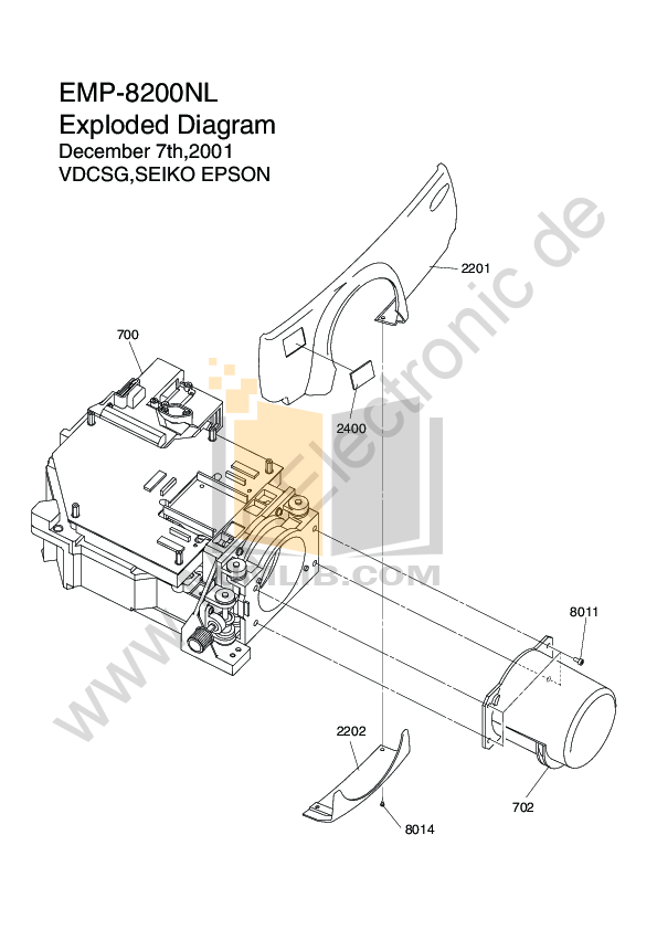 Download free pdf for Epson EMP-8200 Projector manual