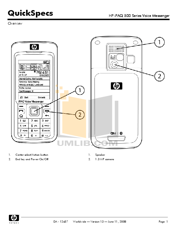 Download free pdf for HP iPAQ 510 Cell Phone manual