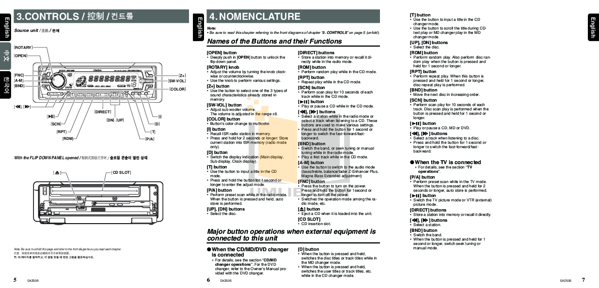 CLARION DXZ535 MANUAL PDF