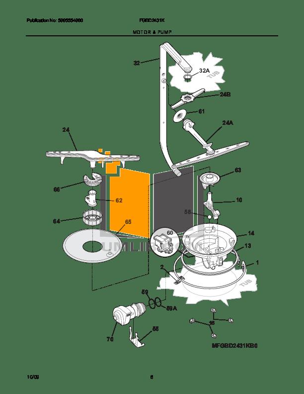 PDF manual for Frigidaire Dishwasher Gallery FGBD2431K